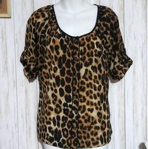 Express oversized Animal print Top Size S